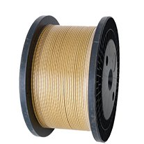 Glass fibre covered strips